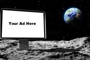 advertise on the moon
