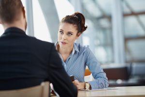 Job interview - recruiter asking questions
