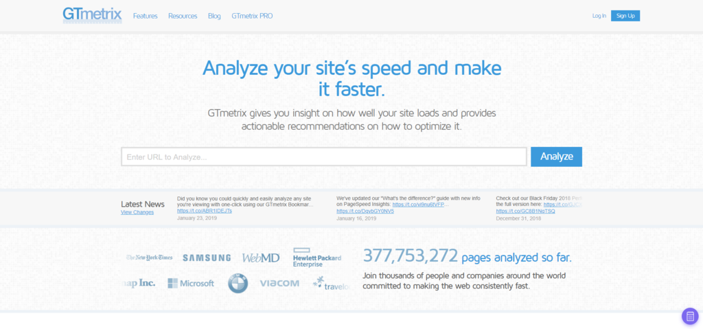 GTmetrix - Website Speed and Performance Optimization