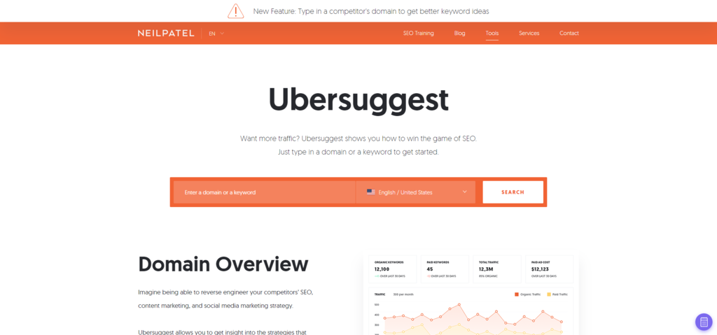 Ubersuggest's Free Keyword Tool, Generate More Suggestions